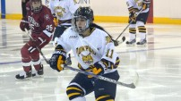 Women's ice hockey tops Harvard 2-1 in OT