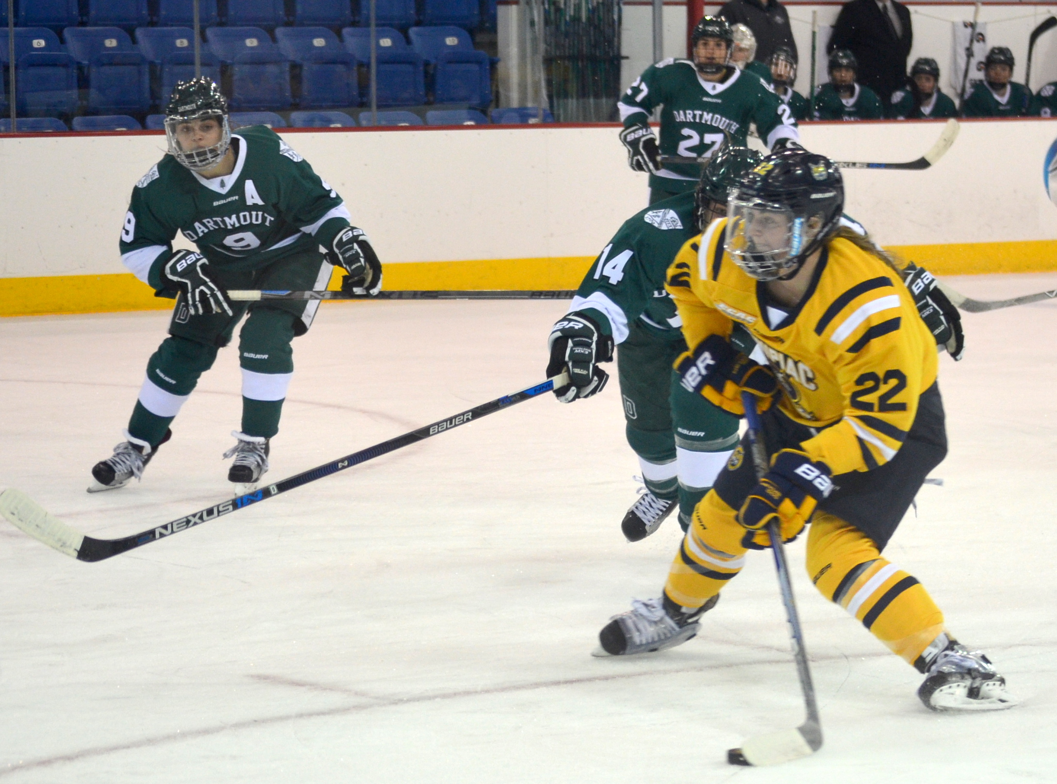 T.T Cianfarano aims before putting the Bobcats up 3-0 vs Dartmouth 12/4/15