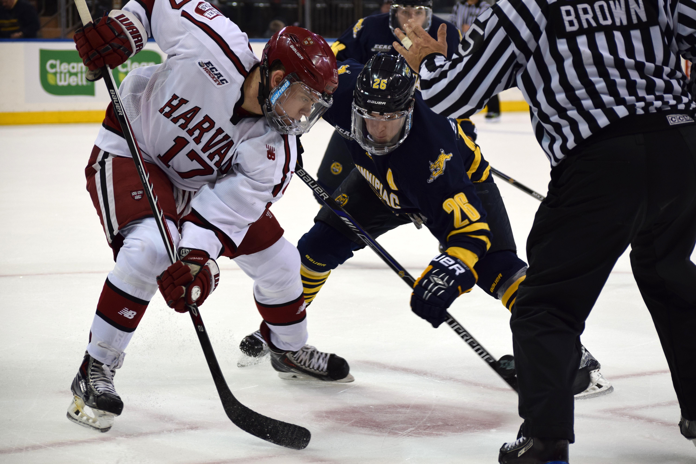 Quinnipiac Men S Hockey Vs Harvard At Msg 1 9 16 Jordan Novack # But Magasin Le Pontet Television